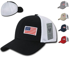 effb33ef 1 Dozen Aero Foam Flex USA Flag Military Mesh Baseball Cotton Caps  Wholesale Lots!