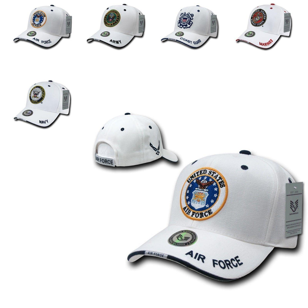 1 Dozen Air Force Marines Navy Army Coast Guard Sandwich Ball Hats Caps Wholesale Lots