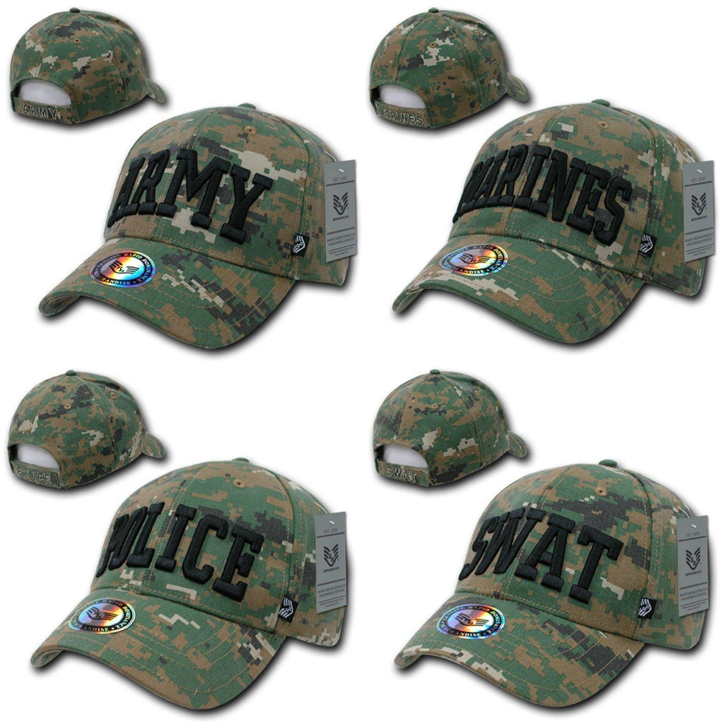 1 Dozen Rapid Dominance USA Military Law Enforcement Camouflage Cotton Caps Hats Wholesale