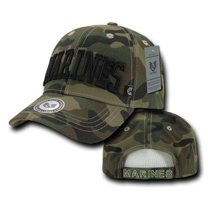1 Dozen Army Marines Camouflage Military Baseball Caps Hats Wholesale Lots