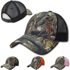 1 Dozen Camouflage Camo Low Fit Curved Bill Hybricam Trucker Baseball Caps Hats Wholesale Lot Bulk