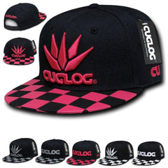 1 Dozen Cuglog Checker 6 Panel Retro Flat Bill Snapback Caps Hats Wholesale Bulk