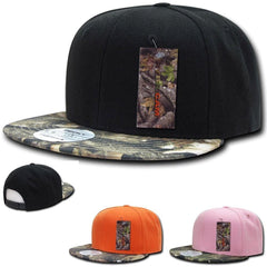 1 Dozen Decky Camouflage Hybricam Bill Snapback Baseball Caps Hats Wholesale Lot