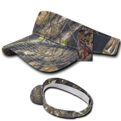 1 Dozen Decky Pre Curved Bill Camouflage Hybricam Summer Cotton Visors Wholesale