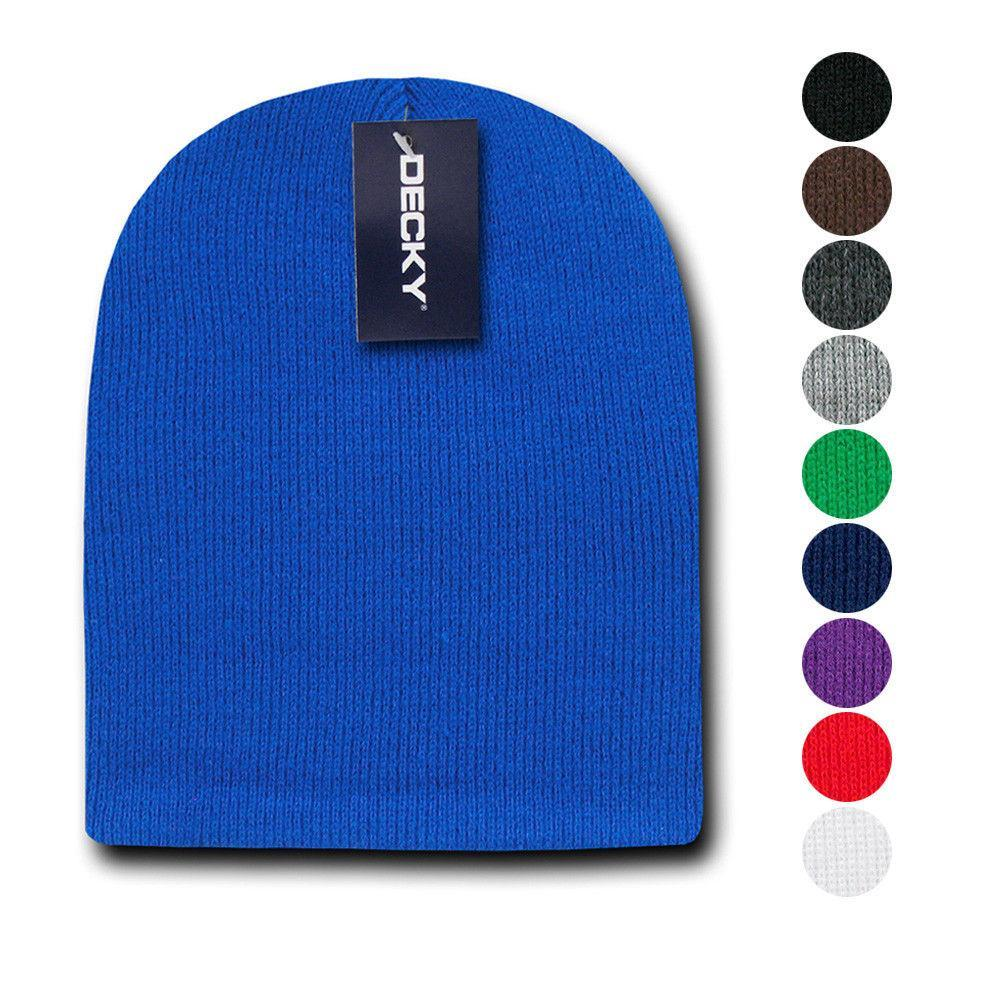1 Dozen Decky Short Knitted Beanies Skull Ski Caps Hats Wholesale