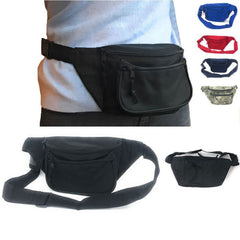 1 Dozen Fanny Waist Pack Purse Travel Pouch Money Id Passport Belt Bag Wholesale