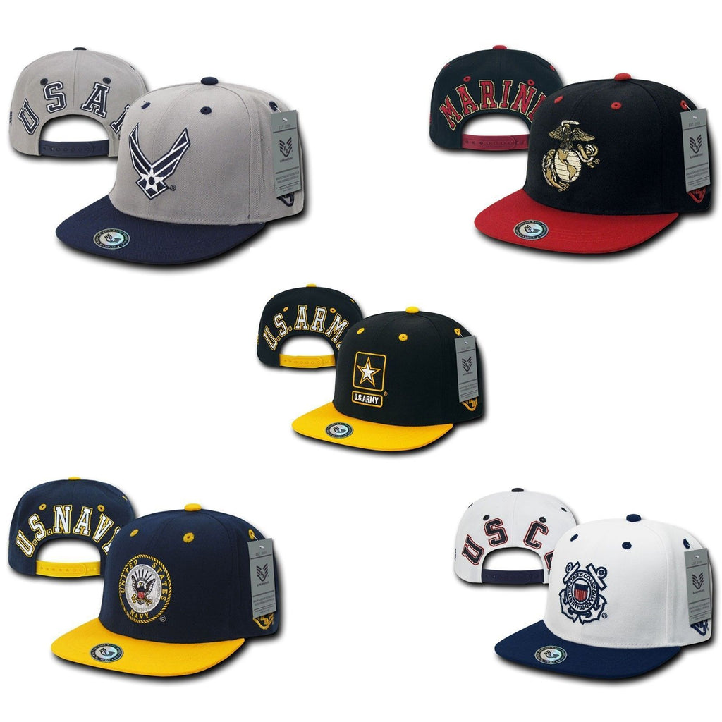 1 Dozen Jumbo Back series 2 Two Tone Air Force Navy Marines Coast Guard Hats Caps