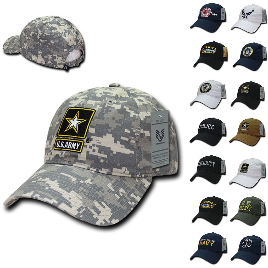 1 Dozen Law Enforcement Military Army Fire Emt Air Force Caps Hats Wholesale
