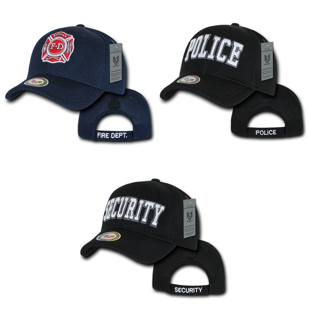 1 Dozen Rapid Fire Department Police Security Air Mesh Baseball Caps Hats