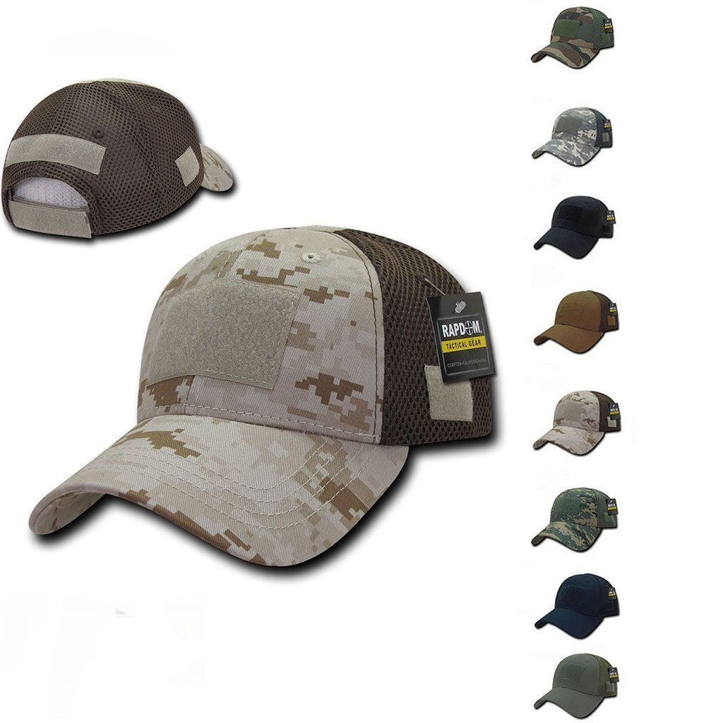 1 Dozen Mesh Constructed Military Tactical Hats Caps With Front Patch Wholesale Lots