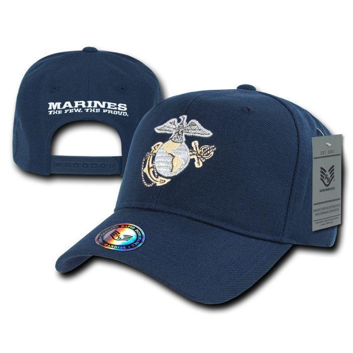 Rapid Dominance 1 Dozen Military Marines The Few The Proud Metallic Baseball Hats Caps