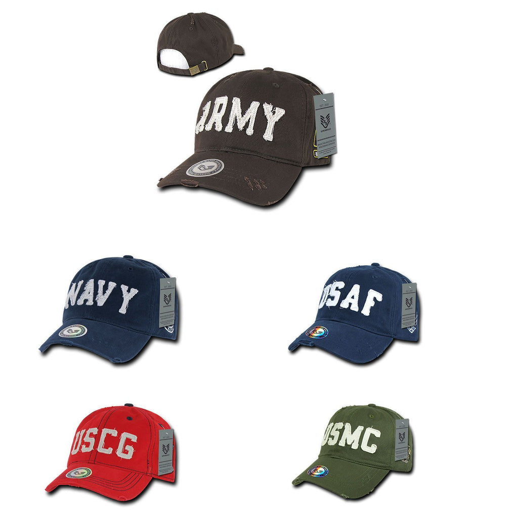 1 Dozen Military Vintage Washed Cotton Twill Polo Distresse Hats Caps Wholesale Lots