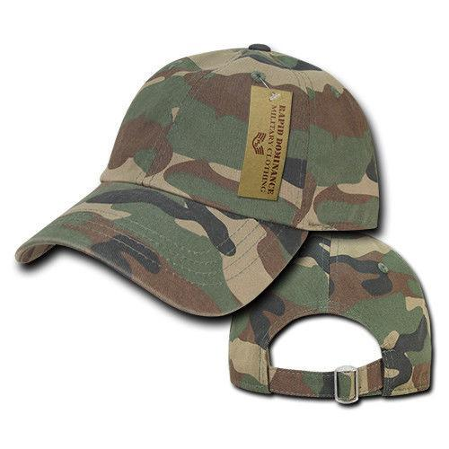1 Dozen Relaxed Cotton Military Vintage Washed Polo Camo Hats Caps Wholesale Lots!