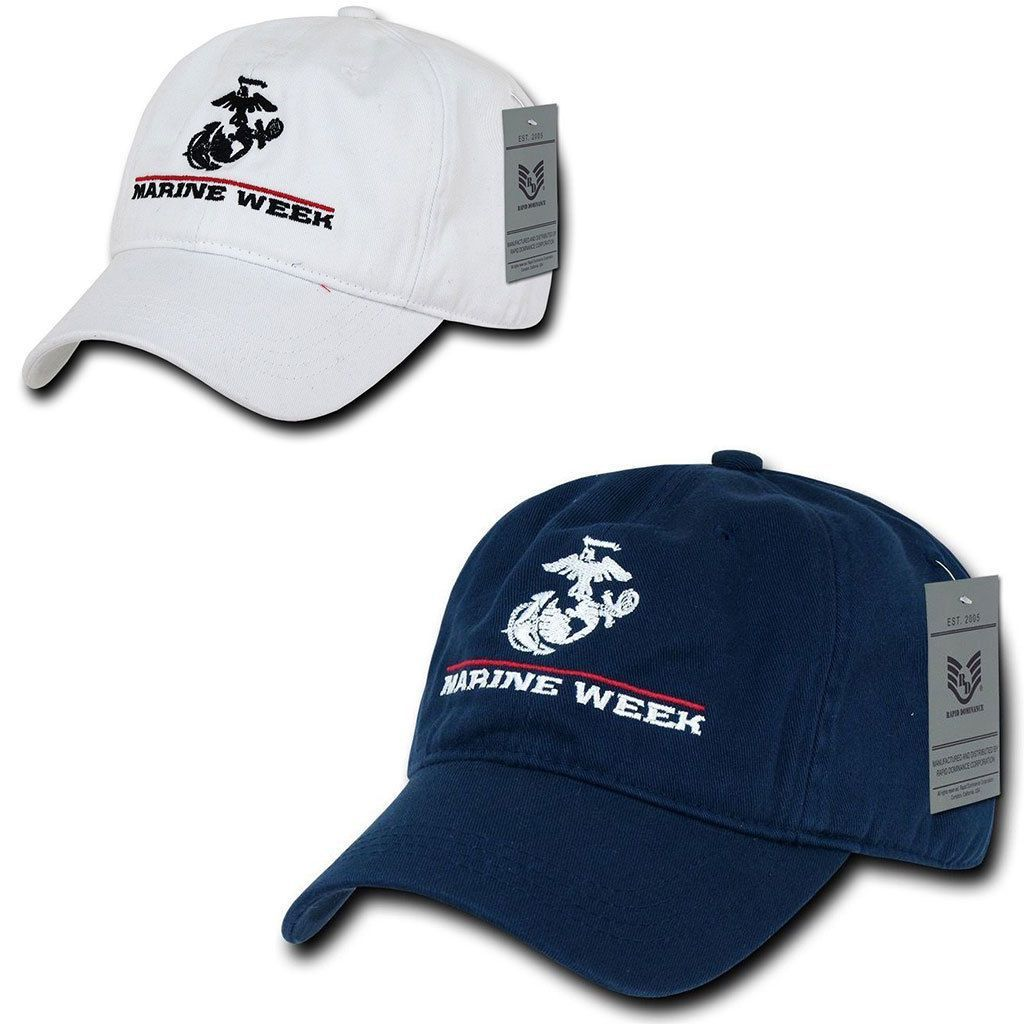 1 Dozen Special Event Marine Corps 6 Panel Cotton Capshats Wholesale Lots