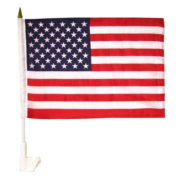 1 Dozen USA American Auto Car Suv Minivan Flags Window Clip Wholesale Lots