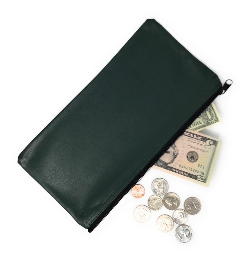 1 Dozen Zipper Bank Deposit Carry Pouch Bags Safe Money Organizer Wholesale Lot