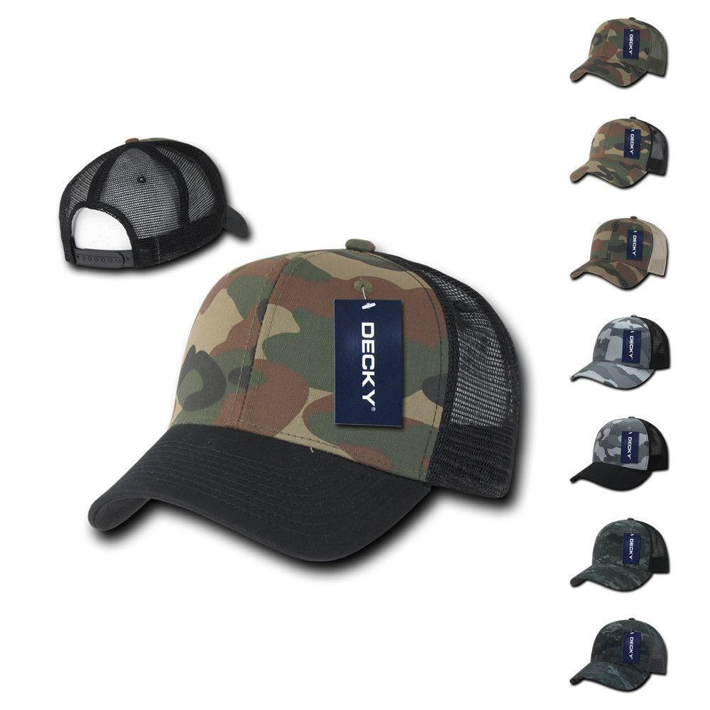 100 Lot Army Camouflage Camo Curve Bill Trucker Hats Caps Wholesale Lots