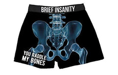 Brief Insanity You Raddle by Bones Silky Funny Boxer Shorts Gifts for Men Women