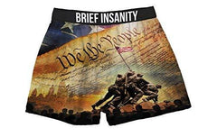 Brief Insanity We The People Constitution American Flag Boxer Shorts for Men Women