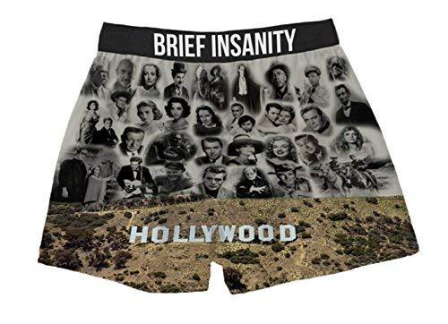 Brief Insanity Old Hollywood Sign Stars Silky Funny Boxer Shorts Gifts for Men Women