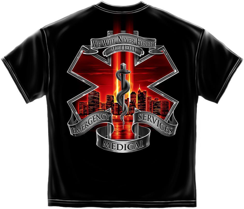 Erazor Bits T-Shirt - Emergency Medical Service  - EMS 9/11/2001 We Will Never F