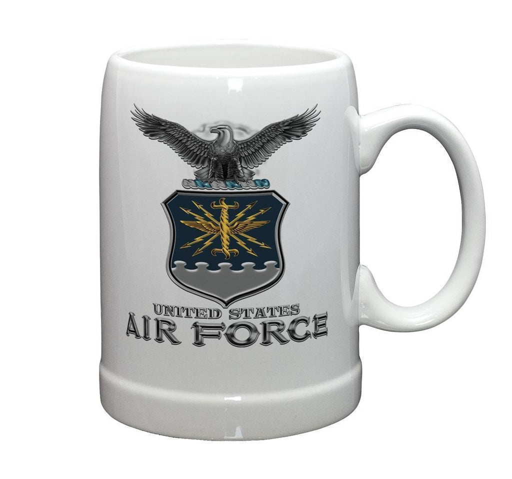 Erazor Bits - Air Force Missile - Set of 2 - Large Coffee Mugs 20oz - Stoneware