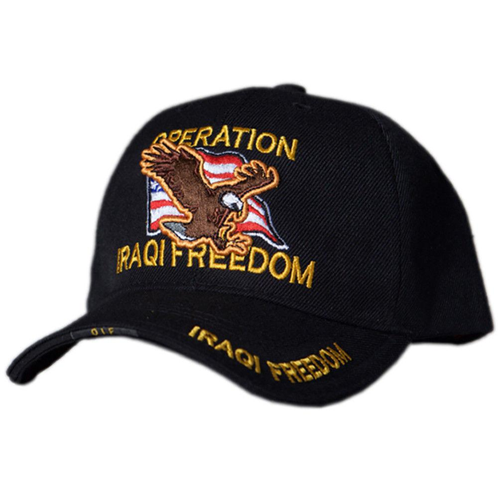 US Honor Embroidered Veteran Operation Iraqi Freedom Baseball Caps Hats