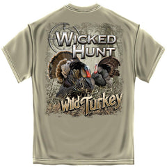 Erazor Bits T-Shirt - Wicked Hunt - Wild Turkey - Beige