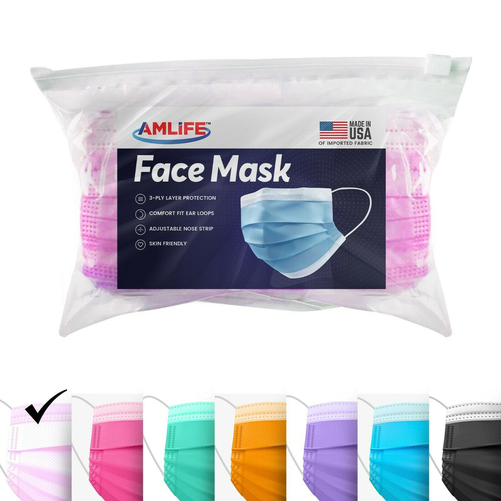 Amlife Face Masks Colorful Adult Kids 3-Ply Mask Made in USA Imported Fabric