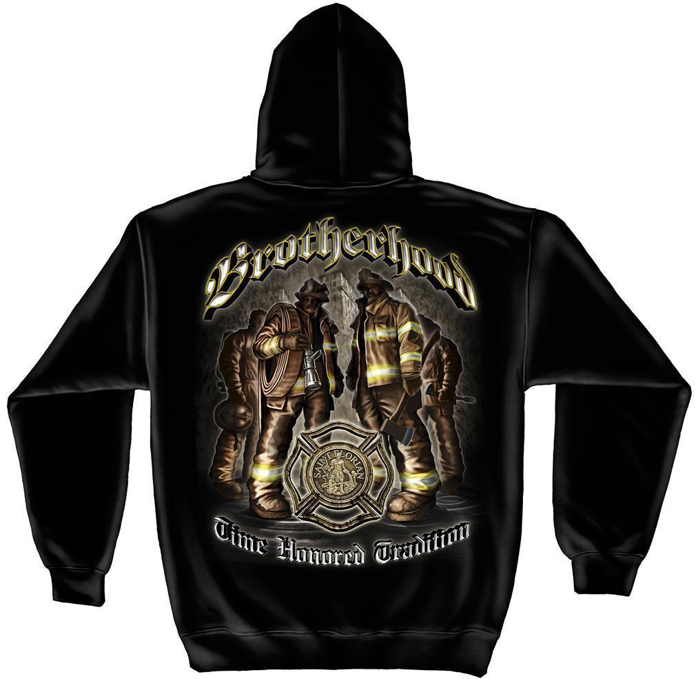 Erazor Bits Sweatshirt Hoodie- FireFighter - Fire Fighter Brotherhood - Time Hon