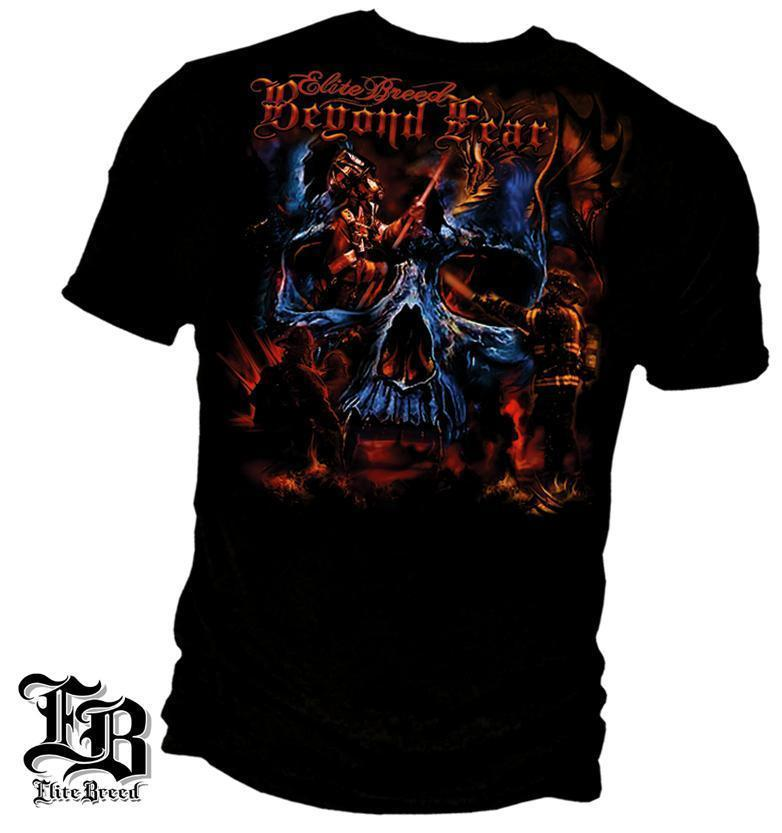 Erazor Bits T-Shirt - Elite Breed - Beyond Fear - Skull - Black