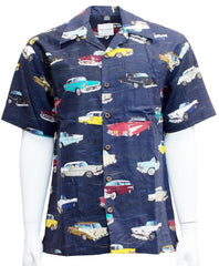 David Carey Vintage Tri-Five Chevrolet 50s Cars Hawaiian Camp Shirts