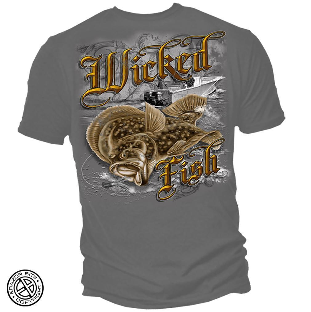Erazor Bits T-Shirt - Wicked Fish - Wicked Fuke  Gravel - Gravel
