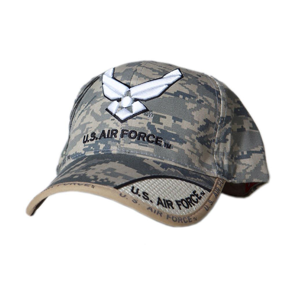 US Honor Embroidered Digital Pixel Camo Air Force Wing Logo Baseball Caps Hats