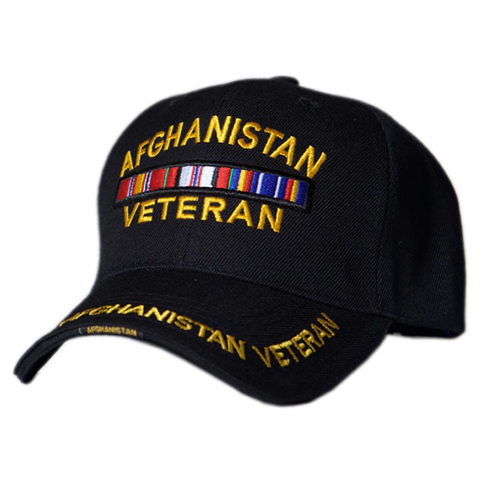 US Honor Embroidered Veteran Afghanistan Bar Baseball Caps Hats