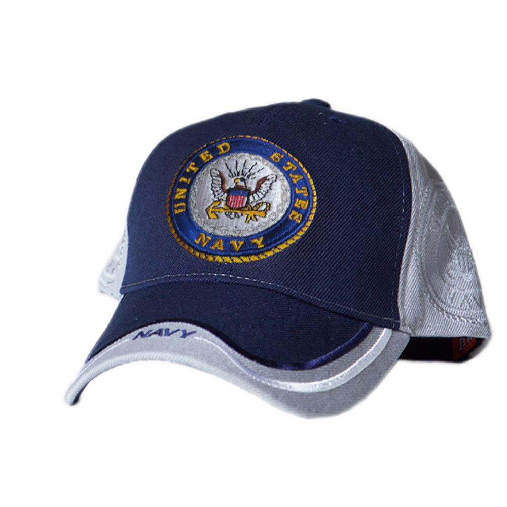 US Honor Official Embroidered Double Navy Logo Baseball Caps Hats