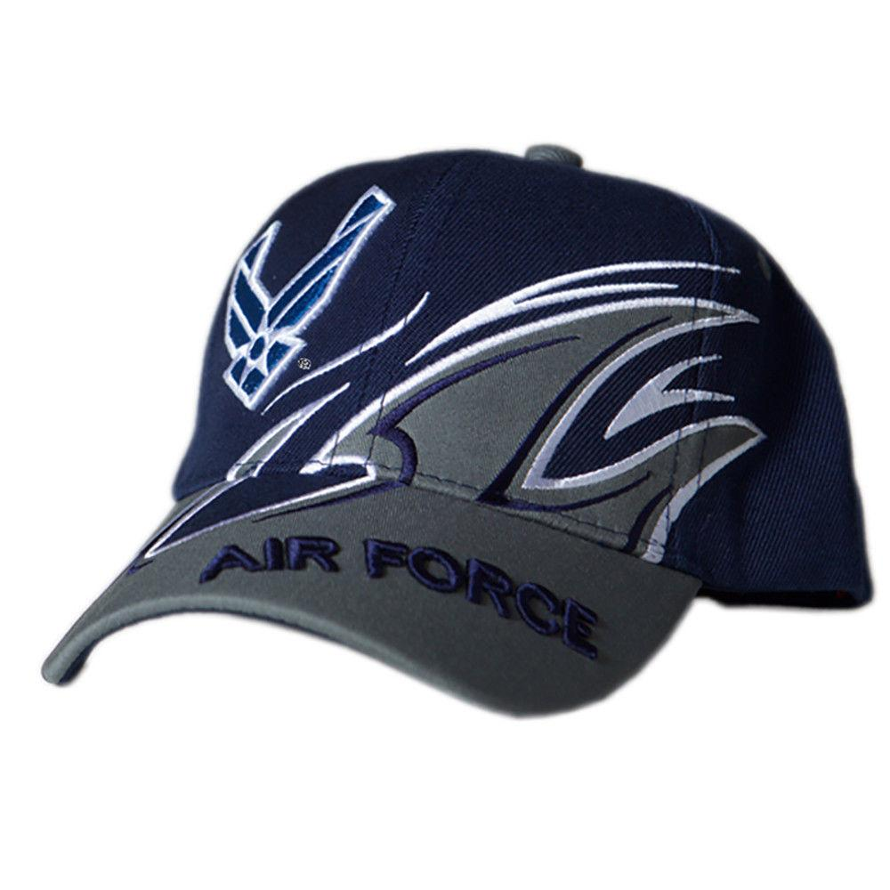 US Honor Official Embroidered Shark Fin Air Force Logo Baseball Caps Hats
