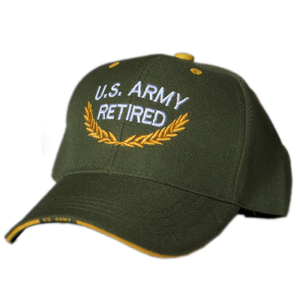 US Honor Official Embroidered U.S. Army Retired Olive Baseball Caps Hats