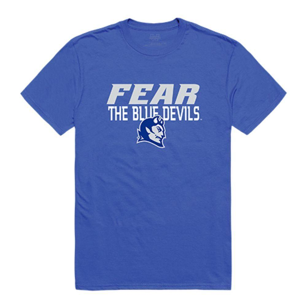 Central Connecticut State University Blue Devils NCAA Fear Tee T-Shirt Royal