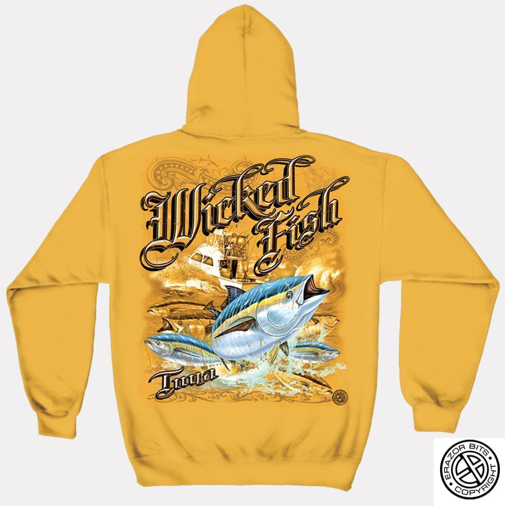 Erazor Bits Sweatshirt Hoodie- Wicked Fish - Tuna - Gold