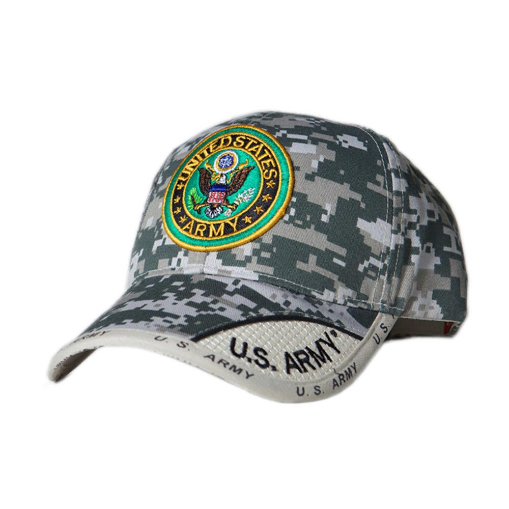 US Honor Official Embroidered Digital Pixel Army Round Logo Baseball Caps Hats
