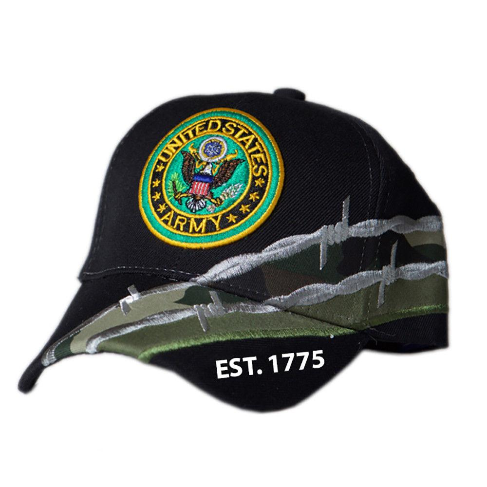 US Honor Official Embroidered Barbed Wire Army Round Logo Baseball Caps Hats