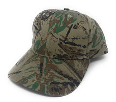 Cotton Twill Camo Camouflage 6 Panel Hunting Fishing Baseball Snapback Hats Caps