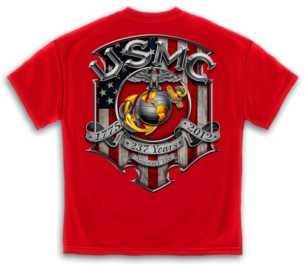 Erazor Bits T-Shirt USMC Marine Corps 1775 - 2012 - Nov 10 - 237 Years Birthday