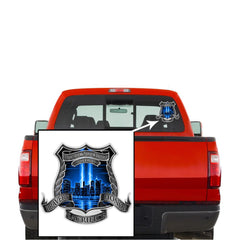 Erazor Bits Refelctive Decal  Law Enforcement We will Never Forget 9/11/2001