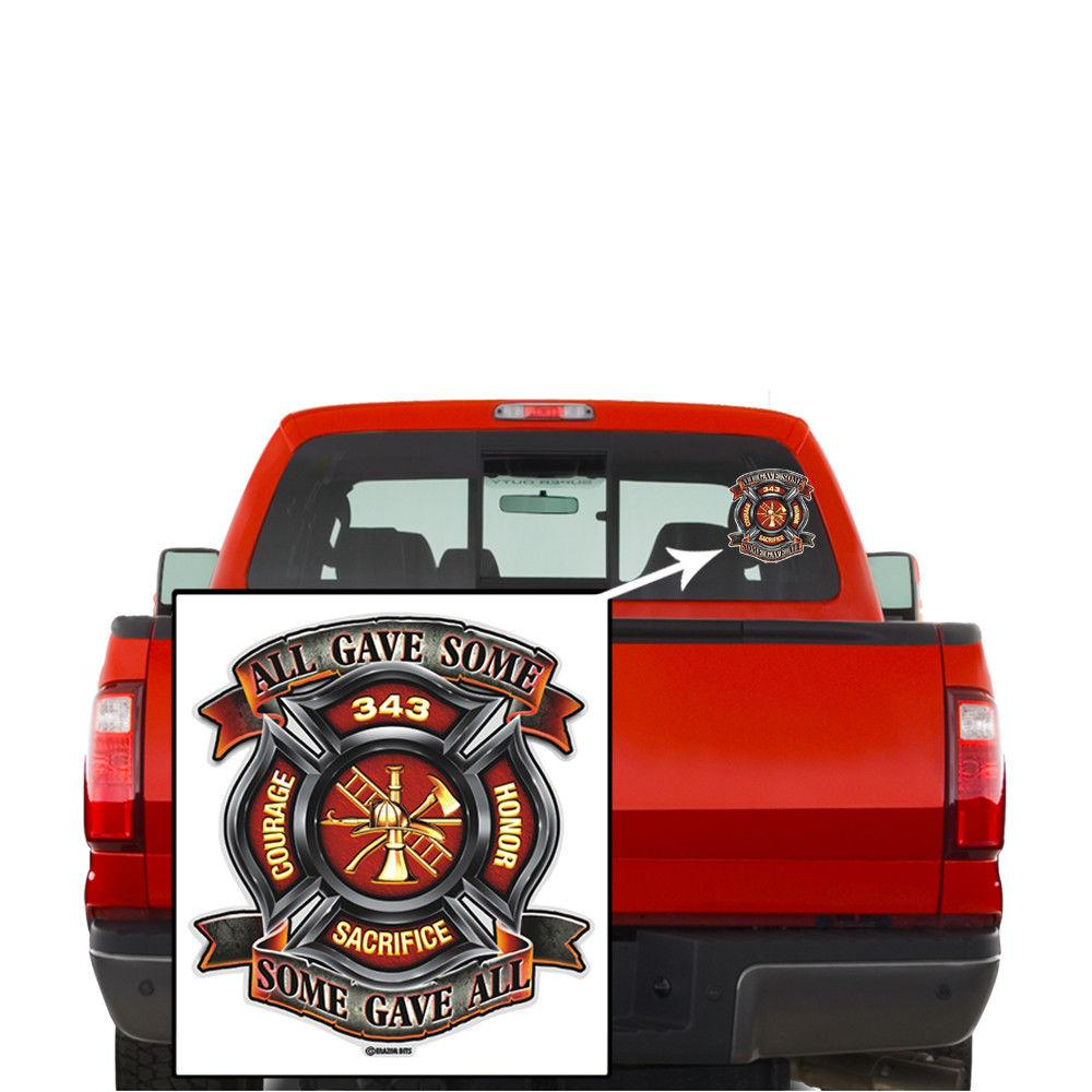 Erazor Bits Reflective Decal Firefighter Fire Honor Courage Scarifice