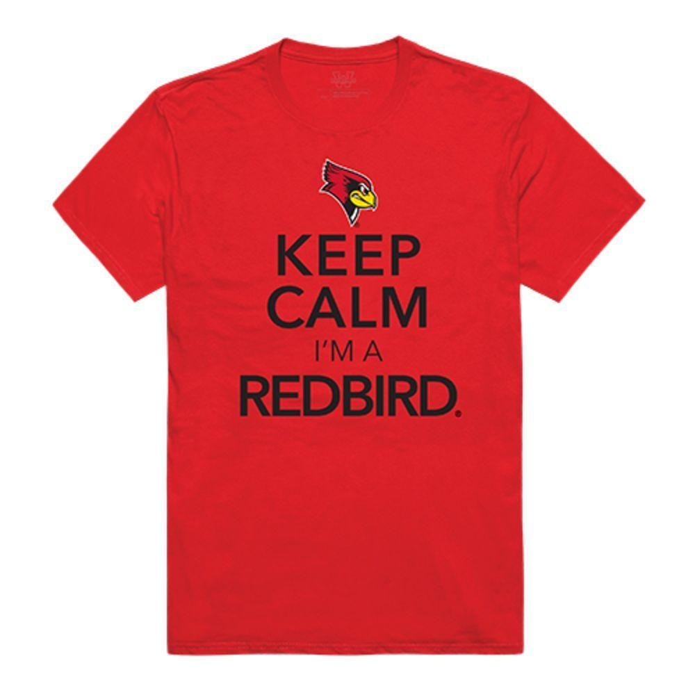 Illinois State University Redbirds NCAA Keep Calm Tee T-Shirt Red