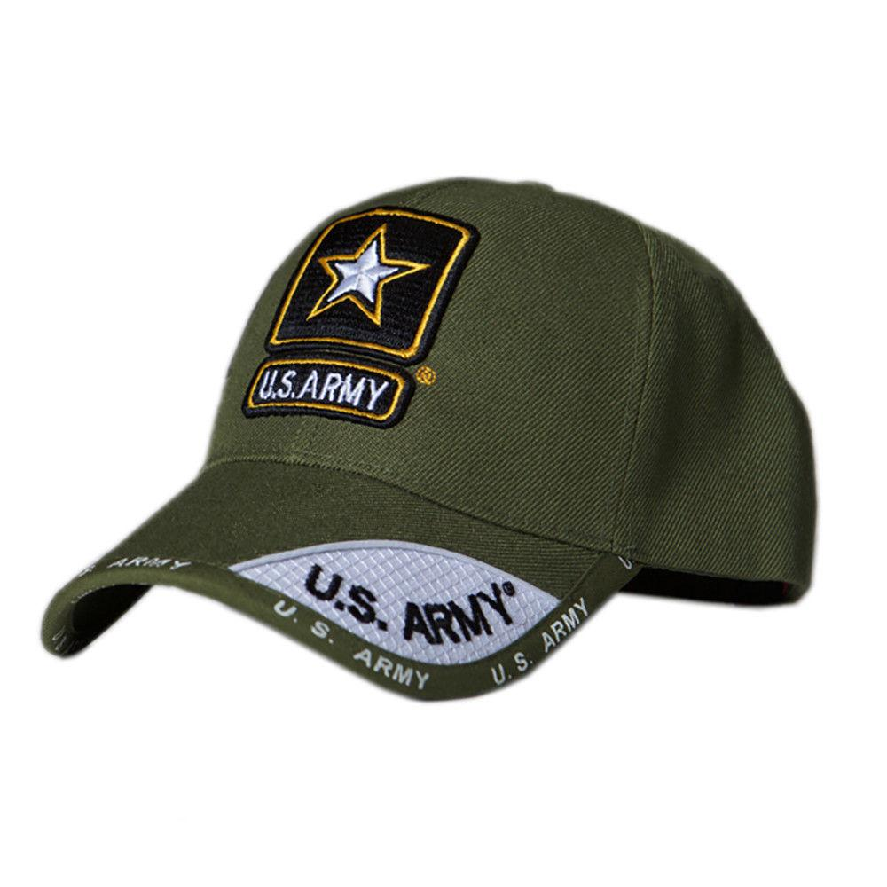 US Honor Official Embroidered Shadow Army Star Olive Green Baseball Caps Hats