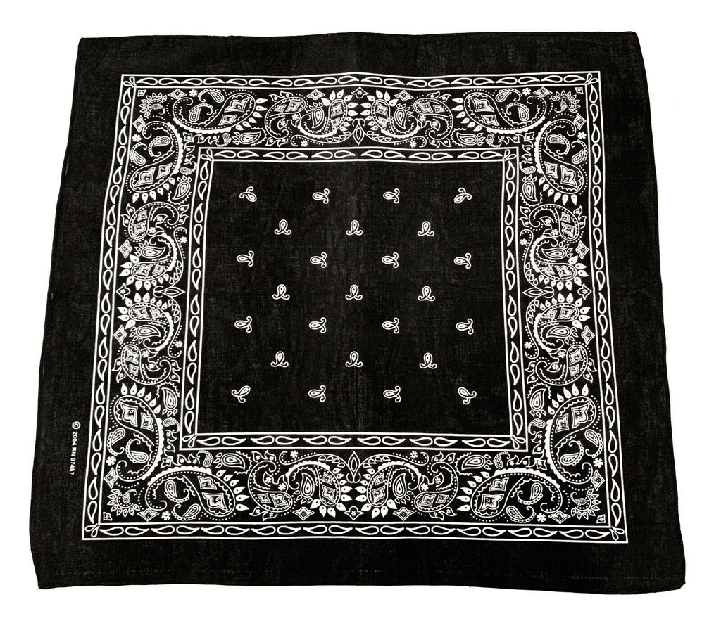 Cotton Bandanas Double Sided Paisley Print Cloth Scarf Face Mask Covering Washable
