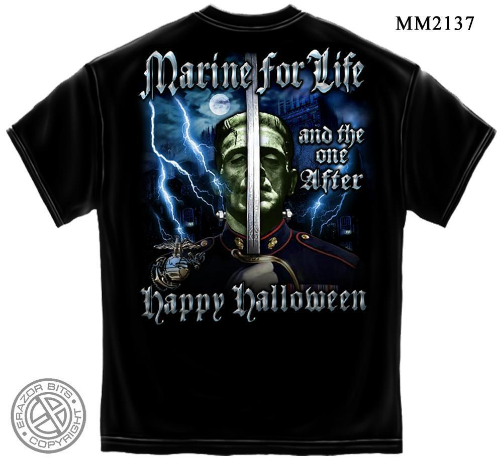 United States Marine Corps USMC Halloween Marine for Life and One After T-Shirt